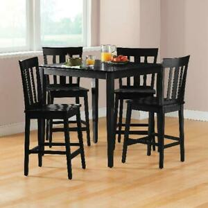 Counter Height Dining Set Breakfast Table Chairs Pub 5 Piece Nook Kitchen Bar
