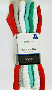Mainstay Washcloth 18 Pack 100% Cotton 11
