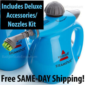 Bissell Steam Shot Surface Cleaner + Garment Steamer DELUXE KIT w/ 12 Pcs/Access