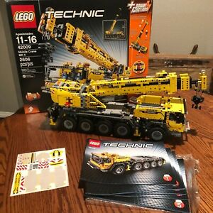 LEGO Technic Mobile Crane MK II 42009 BOX, STICKERS, MANUALS, 100% Complete