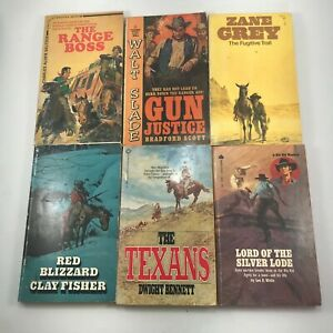 Lot of 10 Vintage Western Books Mixed Authors Paperbacks