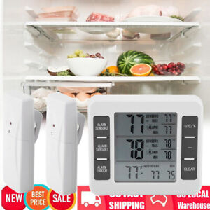 Wireless Digital Refrigerator Freezer Thermometer Alarm High Low Temperature US
