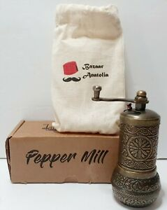 Bazaar Anatolia Pepper Grinder, Spice Grinder, Pepper Mill, Turkish Grinder