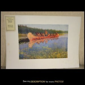 1906 Frederick Remington Artist Proof Chromolithograph Exploring The Lakes $165.00