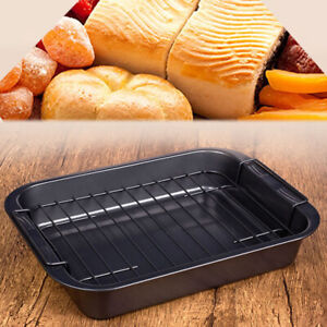 Kitchen Non-stick Metal Cake Bread Mold Grilled Fish Meat Baking Pan Universal