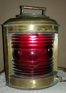Antique Ships running light port side Brass running lightmaritime lamps $275.00