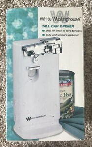 White Westinghouse Tall Can Opener ( Box A Little Damaged)