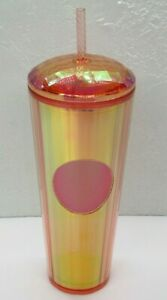 Starbucks Venti Kaleidoscope Iridescent Summer 2020 Dome Tumbler Rose Gold 2