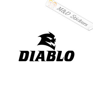 2x Diablo blades Logo Vinyl Decal Sticker Different colors & size for Cars/Bikes