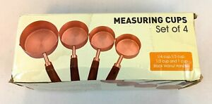 GuDoQi Stainless Steel Measuring Cups Set with Walnut Handles Set of 4