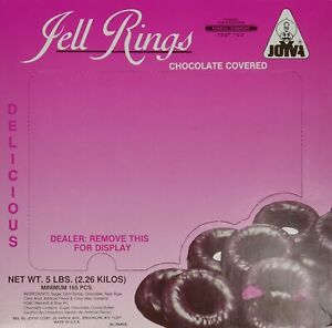 Chocolate Covered Jelly Rings by Joyva 5lbs