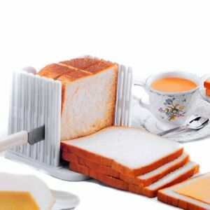 White Bread Slice Toast Slicer Kitchen Tool Guide Cutter Slicing Cutting Sheet