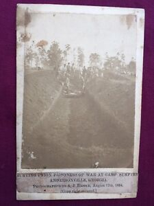 Andersonville Prison Albumen By Riddle $4300.00