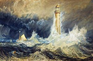 Bell Rock Lighthouse Painting by Joseph Mallord William Turner Art Reproduction $36.99