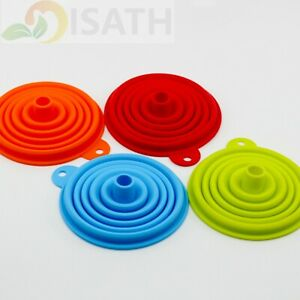 Silicone Funnel Collapsible Foldable Fold heat resistant oil water liquid hopper