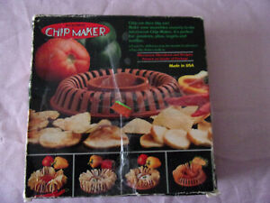 NIB! MICROWAVE CHIP MAKER WORKS WITH TORTILLAS AND BAGELS TOO MADE IN USA