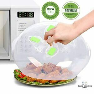 Microwave Plate Cover Magnetic Hover Function Microwave Lid Food Cover Mag