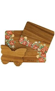 NEW Pioneer Woman 3 Piece Cutting Board Set in Vintage Floral