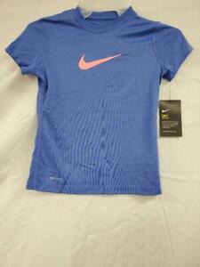 NIKE GIRLS DRI FIT CHECK LOGO T SHIRT ASSORTED SIZES 392389 478 $8.79