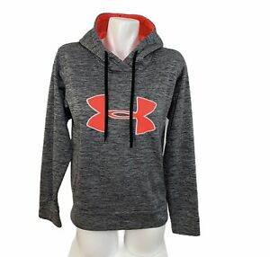 Under Armour Storm Womens Heather Gray Semi fitted Hoodie Sweater Pullover Sz M $21.24