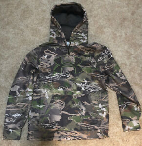 UNDER ARMOUR STORM1 RIDGER REAPER FOREST CAMO UA HUNTING HOODIE MEN'S M $40.00