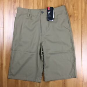 NWT Under Armour Loose Heat Gear Youth XL Beige Shorts $40 $26.40