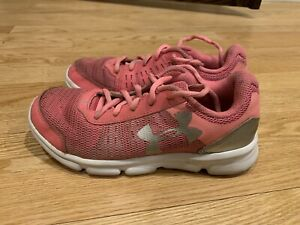 UNDER ARMOUR Little Girls YOUTH Spine ATHLETIC SHOES SIZE 2.5 Y RUNNING Shoes $15.50