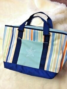 Picnic Time Topanga Cooler Tote Bag Insulated Large 13 X 20 X 8 Canvas Beach BBQ