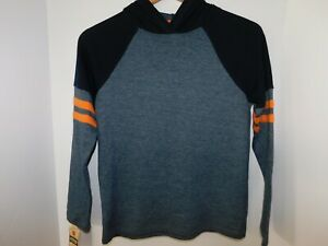NWT Urban Pipeline Boys Hoodie Sweatshirt Blue amp; Orange Medium NEW Free Shipping $16.99
