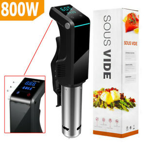 Sous Vide Precision Cooker Immersion Circulator 800W LED Display Stainless BG