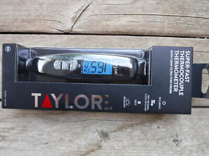 Taylor Precision Digital Turbo Read Thermocouple Thermometer with Folding Probe