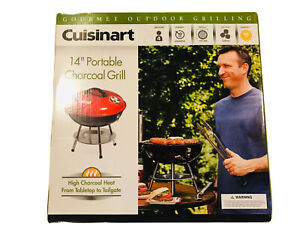 New Cuisinart Portable BBQ Grill Charcoal Outdoor Backyard Cooking Barbecue Pit