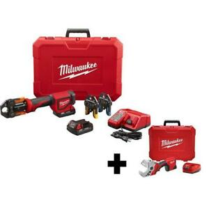 Milwaukee PEX Press Tool PVC Shear Kit 18V Lithium-Ion Cordless Battery Charger  $773.10