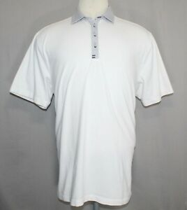 Under Armour Heat Gear Loose Fit White Gray Polo Shirt Men's Size XL $13.99