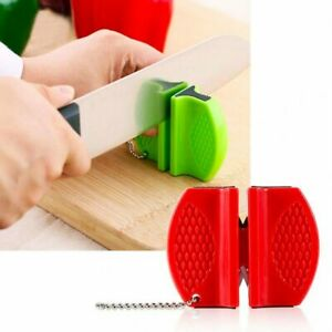 Pocket Fast Knife Sharpener Tungsten Carbide Portable For Outdoor Camping USA