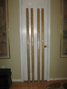 ONE NWOT Fluted Gilded Solid Wood Designer Drapery Curtain Rod 72quot; X 2.25quot; $40.00