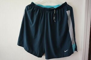 Nike 7 Tempo Dri Fit 2 in 1 Men's Running Shorts Compression Blue 640135 457 $49.00