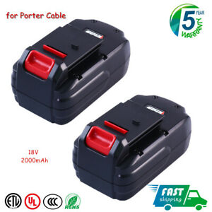 2 Pack Replacement for Porter Cable 18V Battery NiCd PC18B PCMVC PCXMVC PCC489N