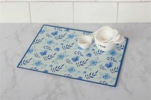 Audrey#x27;s. Glass Cutting Board IN THE BLUES New
