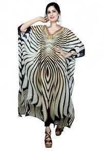 Camouflage Full Length Silk Caftan Silk Beach Coverup Plus Size Kaftans