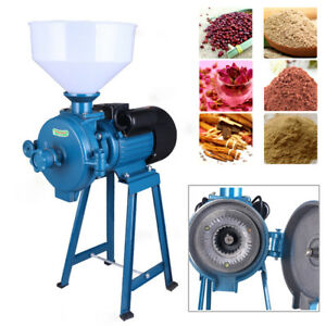 110V Electric Grinder machine For Corn Grain Rice Wheat Cereals Milled Crushing