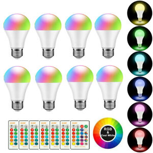 E27 RGB RGBW LED Bulb Light Lamp 16 Color Changing + IR Remote Controller Lot