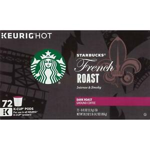 Starbucks French Roast Coffee K-Cups 72 ct - New - Freeshipping