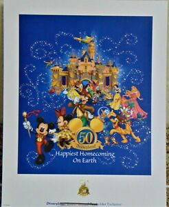 Disneyland quot;Happiest Homecoming on Earthquot; Passholder Exclusive Lithograph w COA $4.99