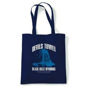 Devils Tower Close Encounters Movie Inspired, Tote Reusable Shopping Canvas Bag