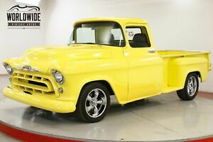 1957 CHEVROLET TRUCK RESTOMOD. STEP SIDE FUEL INJECTED LT1 V8 CALL 1-877-422-2940! FINANCING! WORLD WIDE SHIPPING. CONSIGNMENT. TRADES. FORD