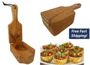 PLANTAIN WOODEN MASHER PRESS FOR TOSTONES TOSTONERA RELLENA 7cm cup
