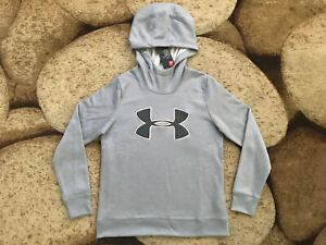 Under Armour Logo Hooded Hoodie Pullover Womens Size Small Gray NWT $55.00 $19.95