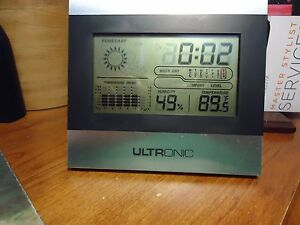 Digital LCD Temperature Humidity, Weather, Alarm Clock Desk Stand