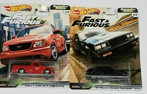 Hot Wheels Fast & Furious Ford F 150 SVT Lightning & 87 Buick Grand National GNX